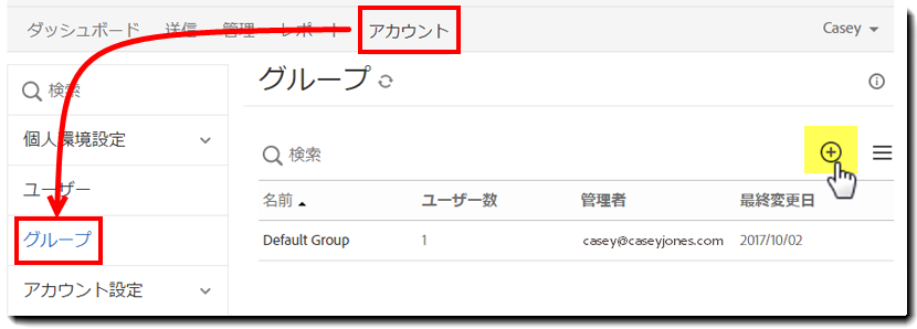1. Nav to Groups