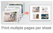 Adobe Acrobat/Adobe Reader では、1 枚の用紙に複数のページをまとめて印刷することができます。このような印刷方法は N,up 印刷とも呼ばれます。