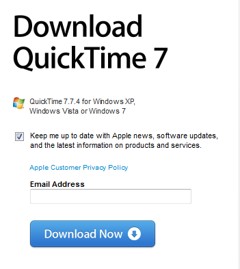 Update or reinstall QuickTime