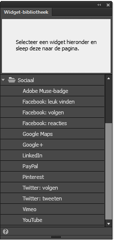 Sociale widgets in Adobe Muse
