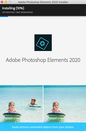 Photoshop Elements installeres