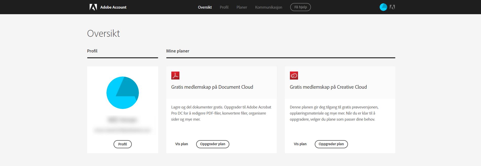 76f3fc4f Få tilgang til Adobe ID-kontoen din