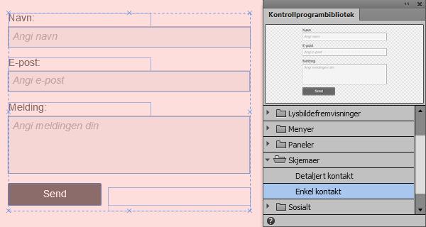 27b727fa Legge til kontaktskjemaer og formatere kontrollprogrammer for ...