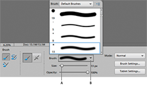 Brush options