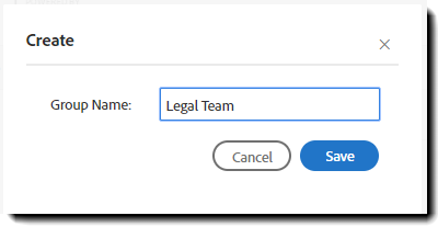Group Name Panel