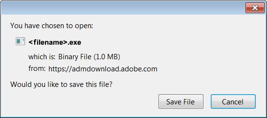 Clique em Salvar arquivo
