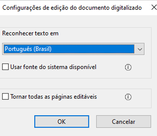 Como editar PDFs digitalizados, desativar OCR automático