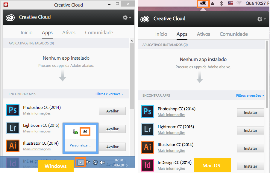 Ícone de aplicativo de desktop Creative Cloud