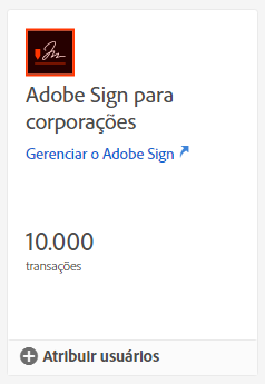 Cartão do Adobe Sign
