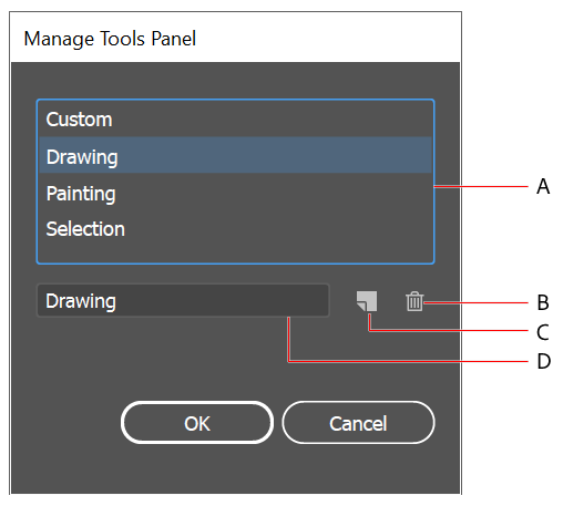 Manage-tools-panel