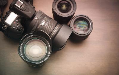 Câmeras e lentes compatíveis