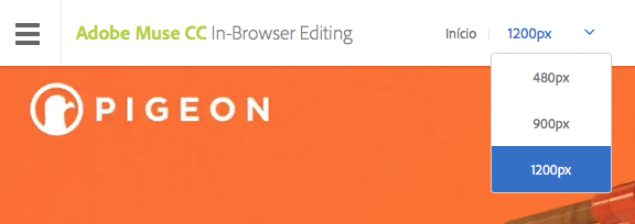 In-Browser Editing para layout responsivo