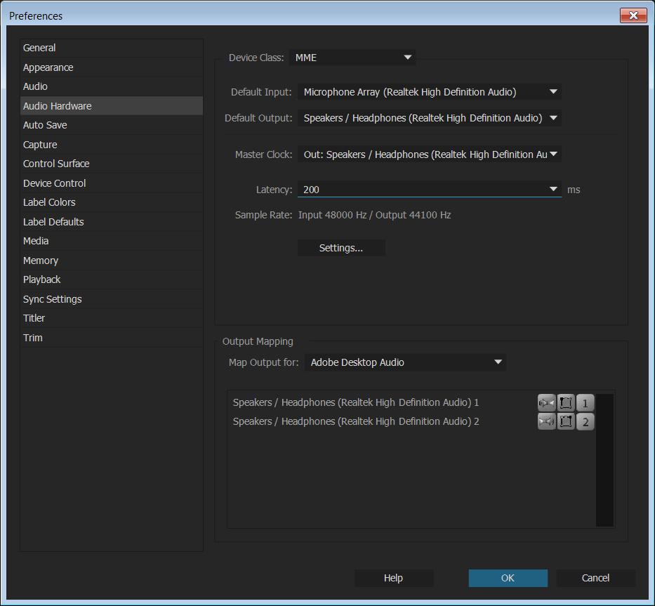 ba63d4f808 Definir configurações de preferência no Premiere Pro