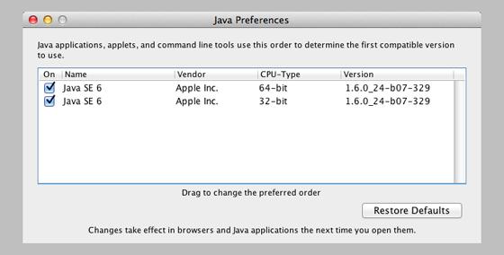 how to install java 6 on mac 32 bit