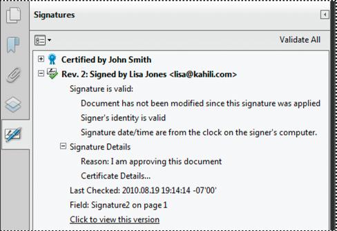 Validating Digital Signatures Adobe Acrobat