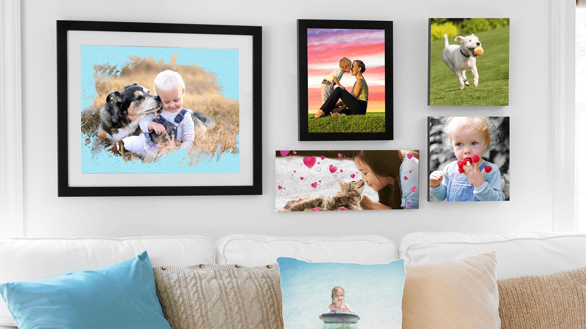 Заказ печати фотографий, сувениров и принадлежностей