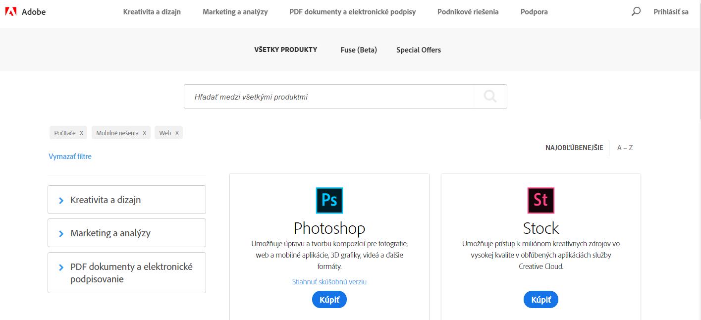 2e0906d6a Obchod Adobe | Často kladené otázky ohľadne Online objednávky a platby