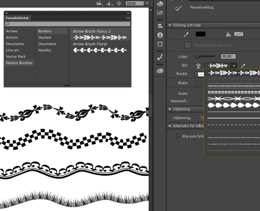 pattern brushes