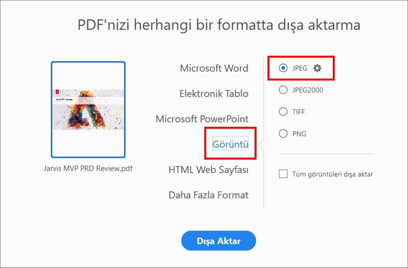 Adobe Acrobat I Kullanarak Pdf Yi Jpg Ye Donusturme