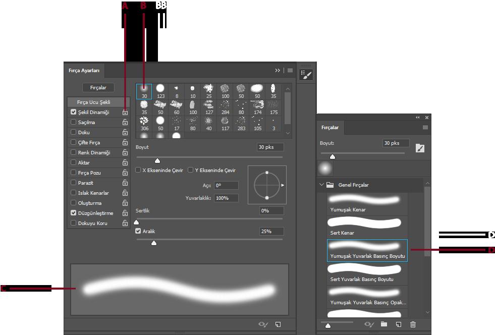 Adobe Photoshopta Fırçaları Oluşturma Ve Değiştirme