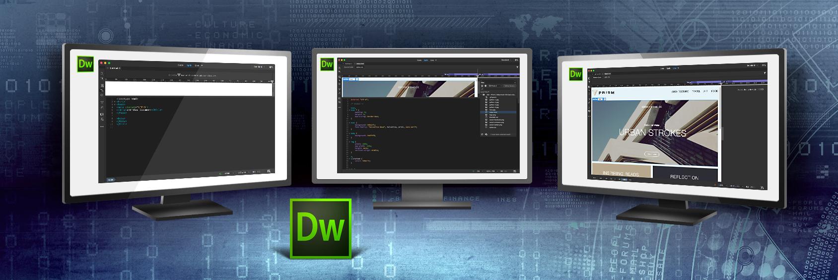 Dreamweaver 中的多部螢幕支援功能