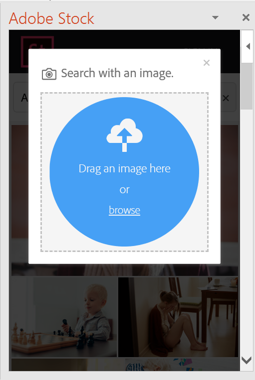 Upload image and search