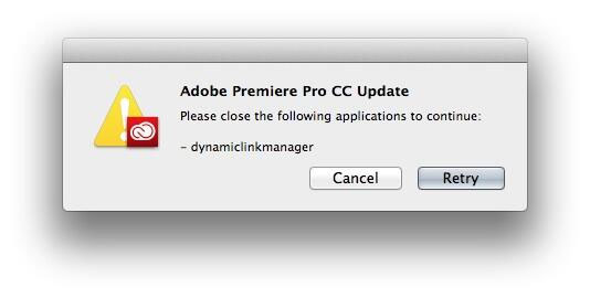 adobe application manager mac update failed