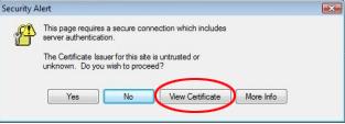 Click View Certificate