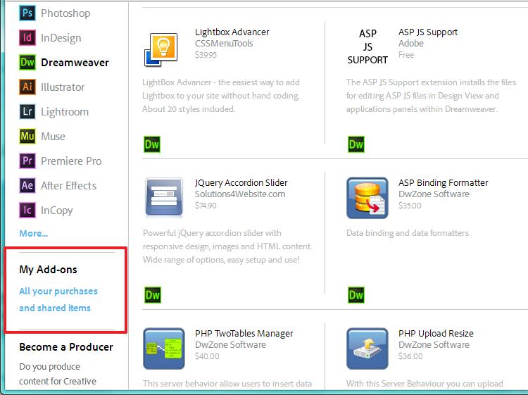 Adobe Air Extension for Dreamweaver full version