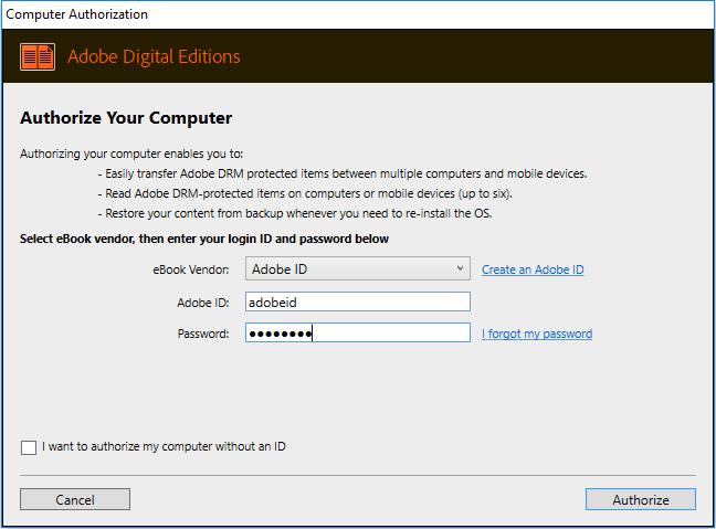 adobe digital editions help