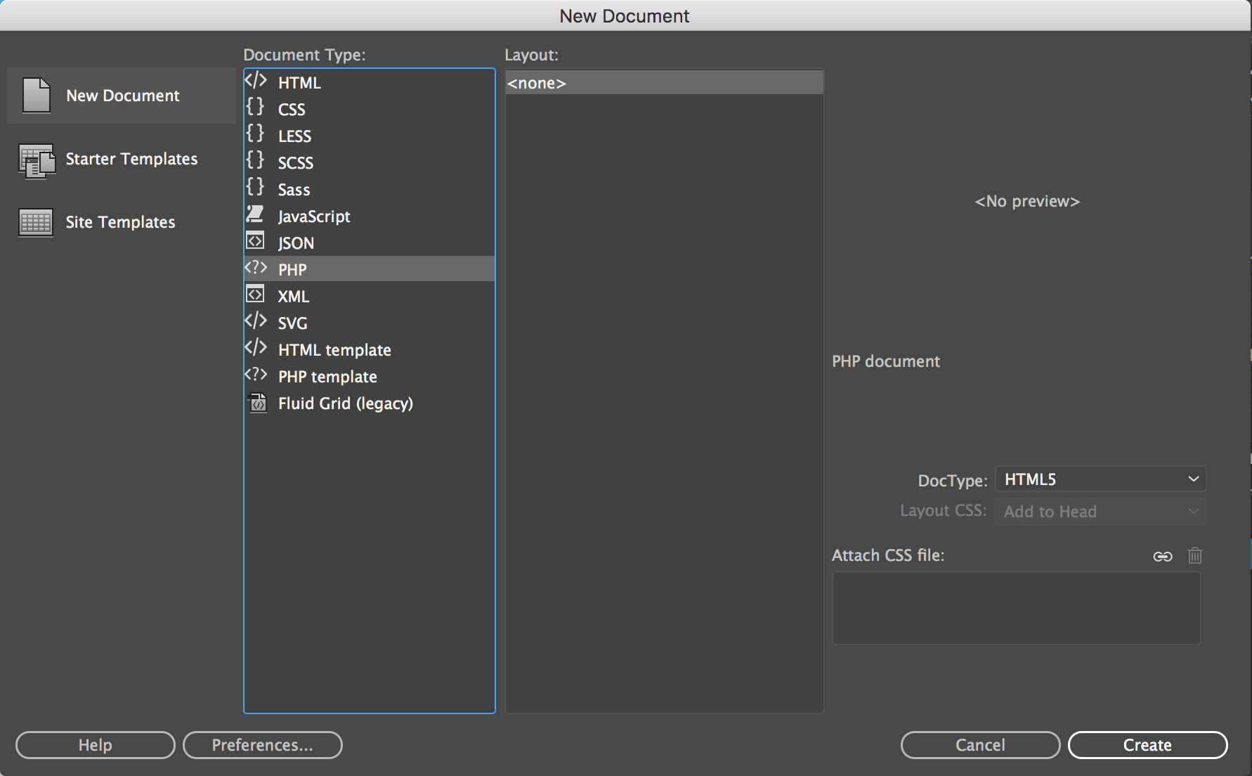 How to create and open files in Dreamweaver