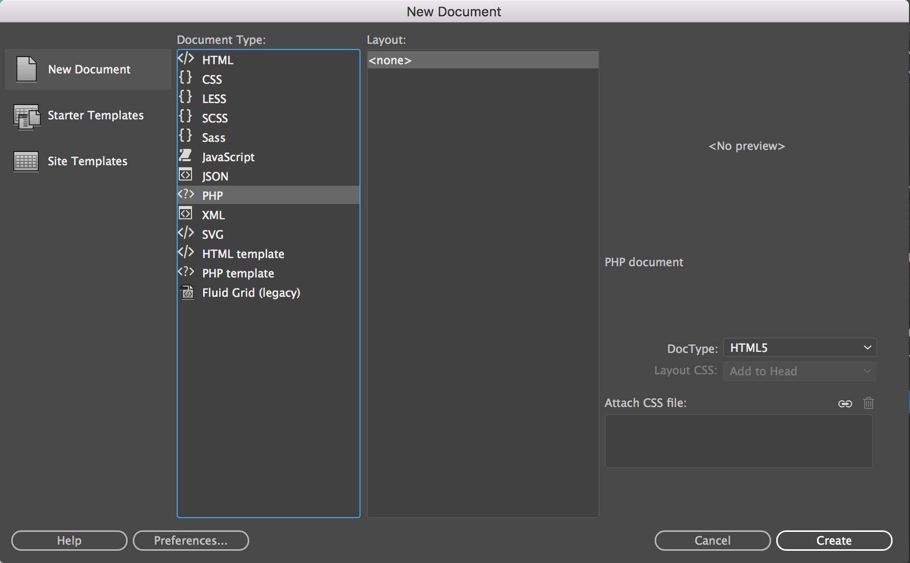 Dateien in Dreamweaver erstellen und öffnen