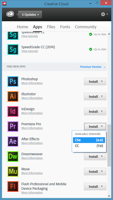 Adobe cc registration and download instructions.