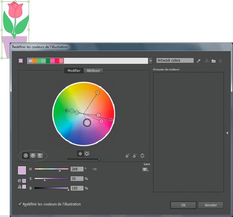 Adobe Illustrator Groupes De Couleurs Harmonies