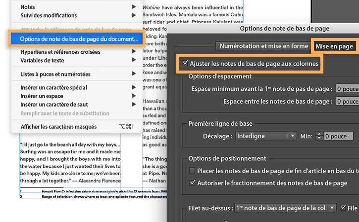 how to add footnotes in pages