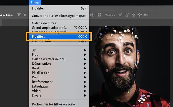 filtre fluidité photoshop