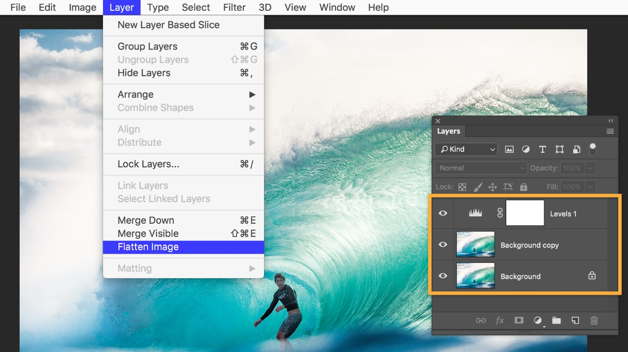 Add border to photoshop in how