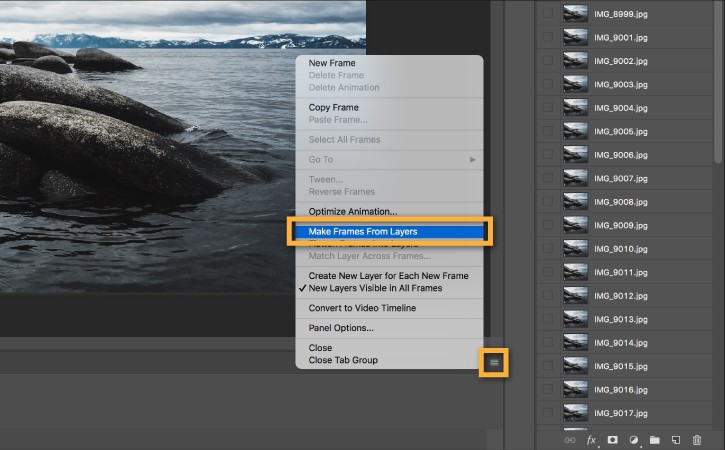 how to make gif file in photoshop cc