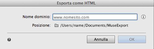 Scegliete la cartella in cui memorizzare i file esportati