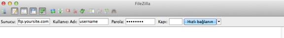 Connessione al server FTP mediante FileZilla
