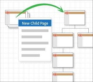 Pages that are collapsed expand on adding a child page.