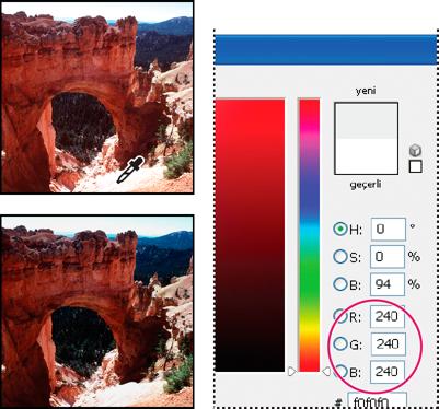 Photoshop Görüntüleri baskı hedefine yönlendirme