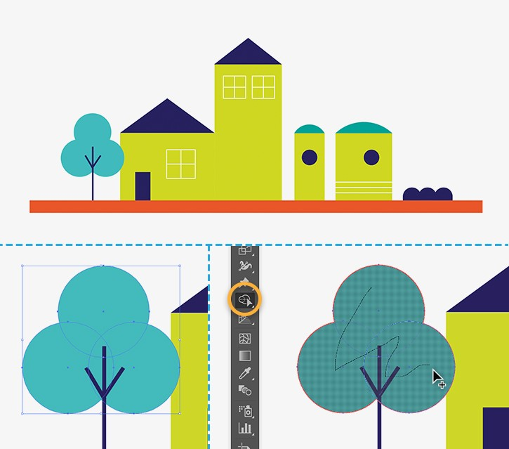Drawing Lines With Illustrator : How to draw buildings in illustrator adobe