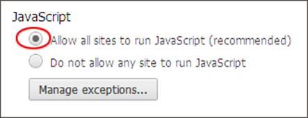 Enable javascript select allow all sites to run javascript ccuart Gallery